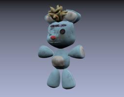 Teddy Bear Old Cartoon 3D Model