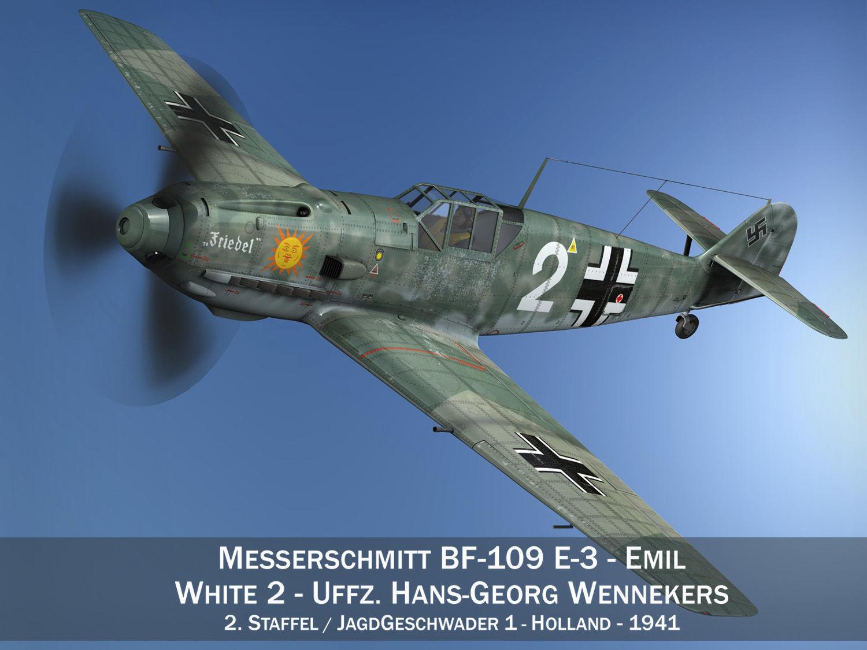 Messerschmitt - BF-109 E - White 2