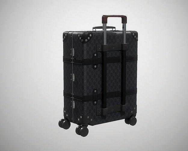 Gucci Globe-Trotter GG canvas luggage suitcase Black