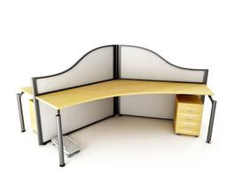 3D Modern Office Desk And Workspace