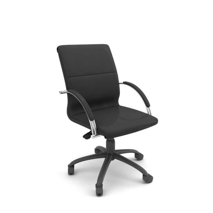 Professional Rolling Office Chair 3d Model Obj Mtl 1