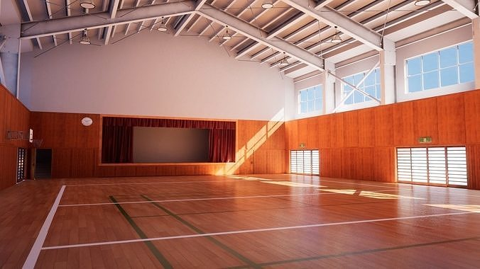 Japanese School Gym - Over 30 Assets Pack