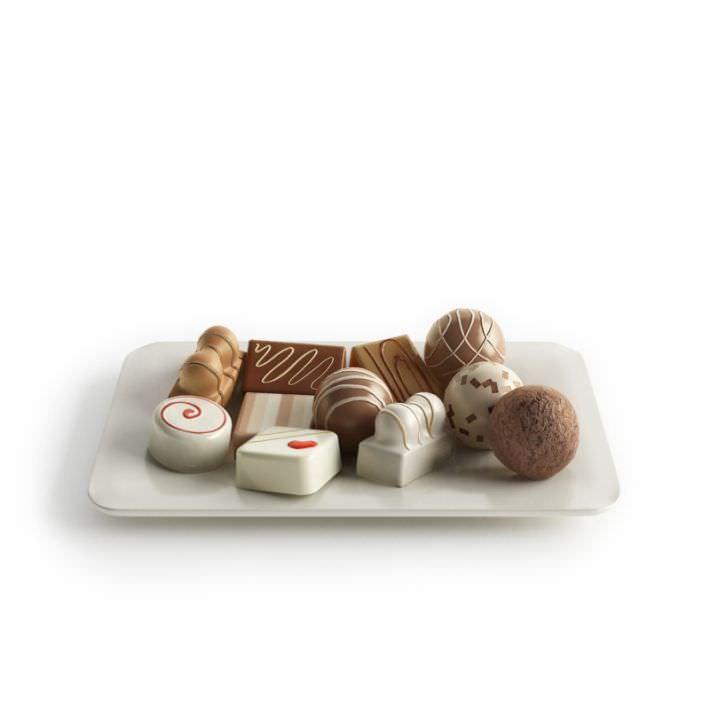 Dark And White Chocolate Candies
