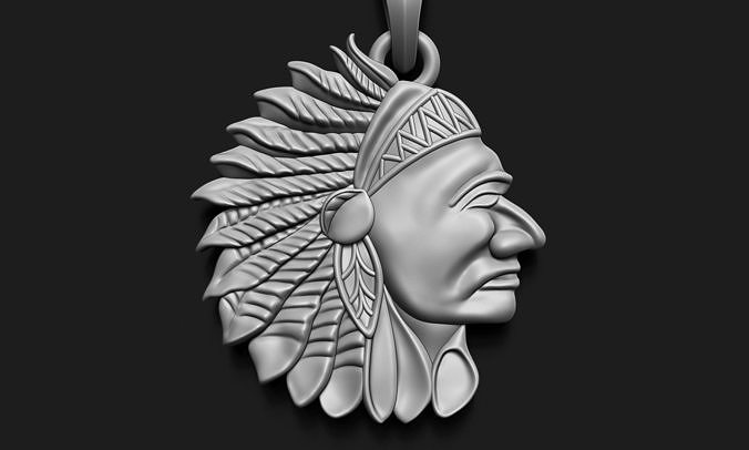 Red Indian Head Resolution