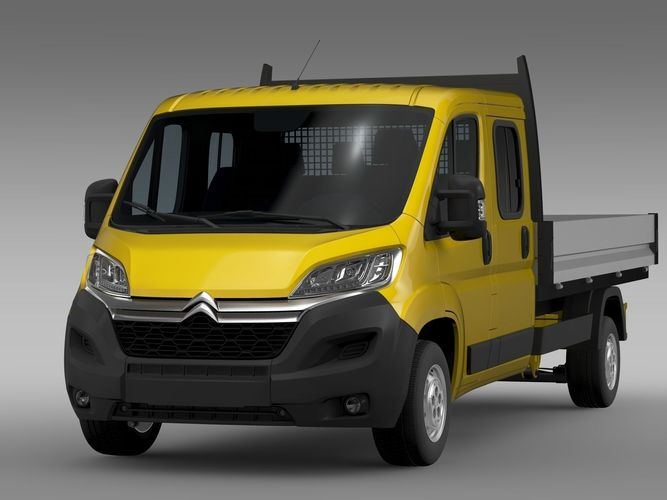 citroen jumper crew cab truck 2017 3d model cgtrader. Black Bedroom Furniture Sets. Home Design Ideas