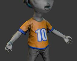 Alien Kid 3D asset
