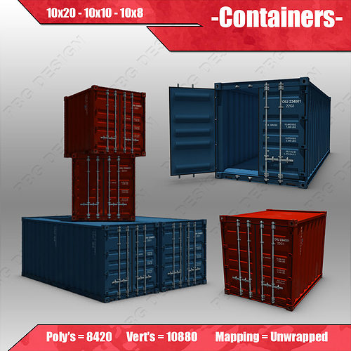 container 3d model max obj 3ds fbx mtl 1