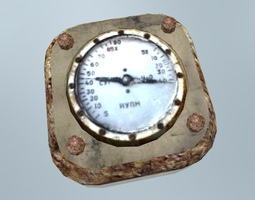 Rusted Vacuum Meter 2 3D model