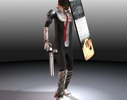the trader man 3d model rigged