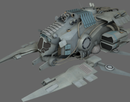 3d asset VR / AR ready support bomber ms