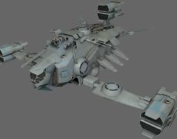 Heavy Fighter MS 3D asset