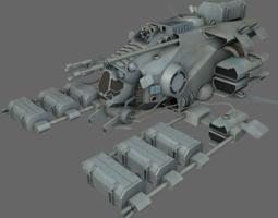 Mining Ship MS 3D Model