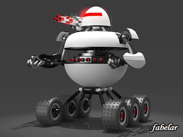 robot 3d model max 1