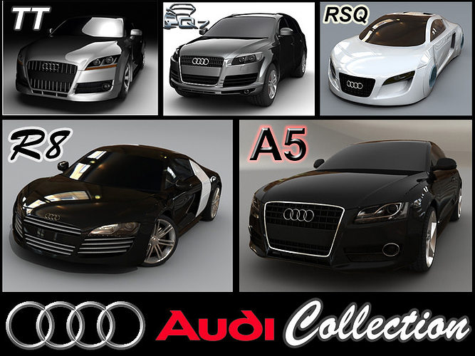 D Model Audi Collection CGTrader - Audi vehicles models