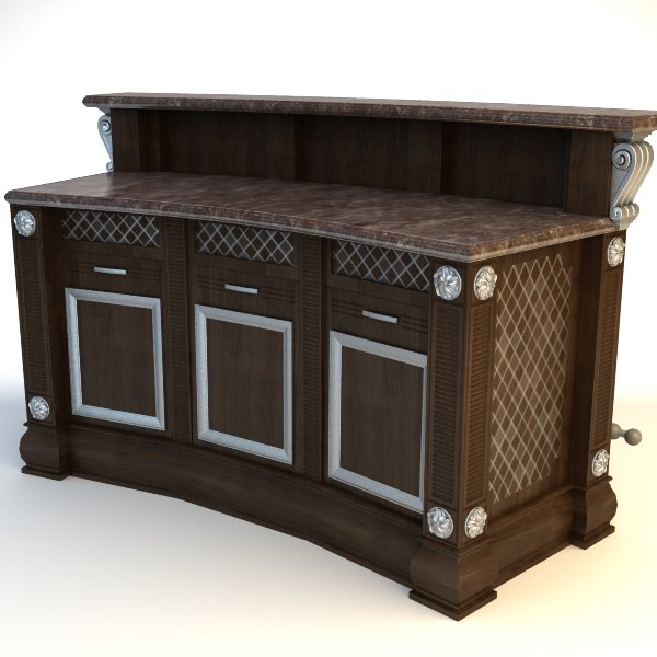 Kitchen Cabinet Models: Kitchen Island Cabinet 3D Model MAX 3DS FBX