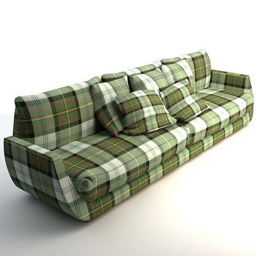 Plaid Sofa 3d model scottish plaid sofa cgtrader