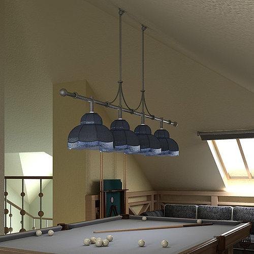 Ordinaire ... Billiard Table Light Fixture 3d Model Max Obj Mtl 3ds Fbx 2 ...