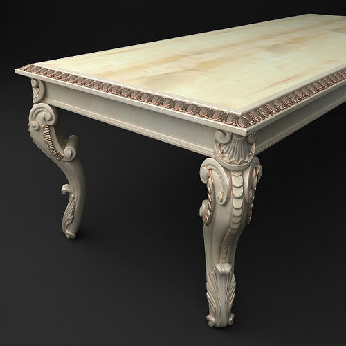 Baroque table 3d model cgtrader for Table design 3d model