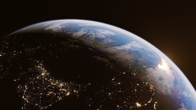 Earth for realtime render Eevee