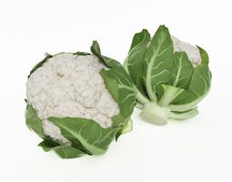 3D model Two Cauliflowers