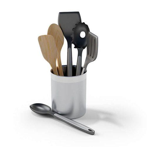 Kitchen Tool Holder 3d Model Obj