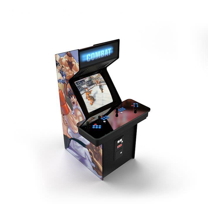 3d Model Street Fighter Arcade Machine Cgtrader
