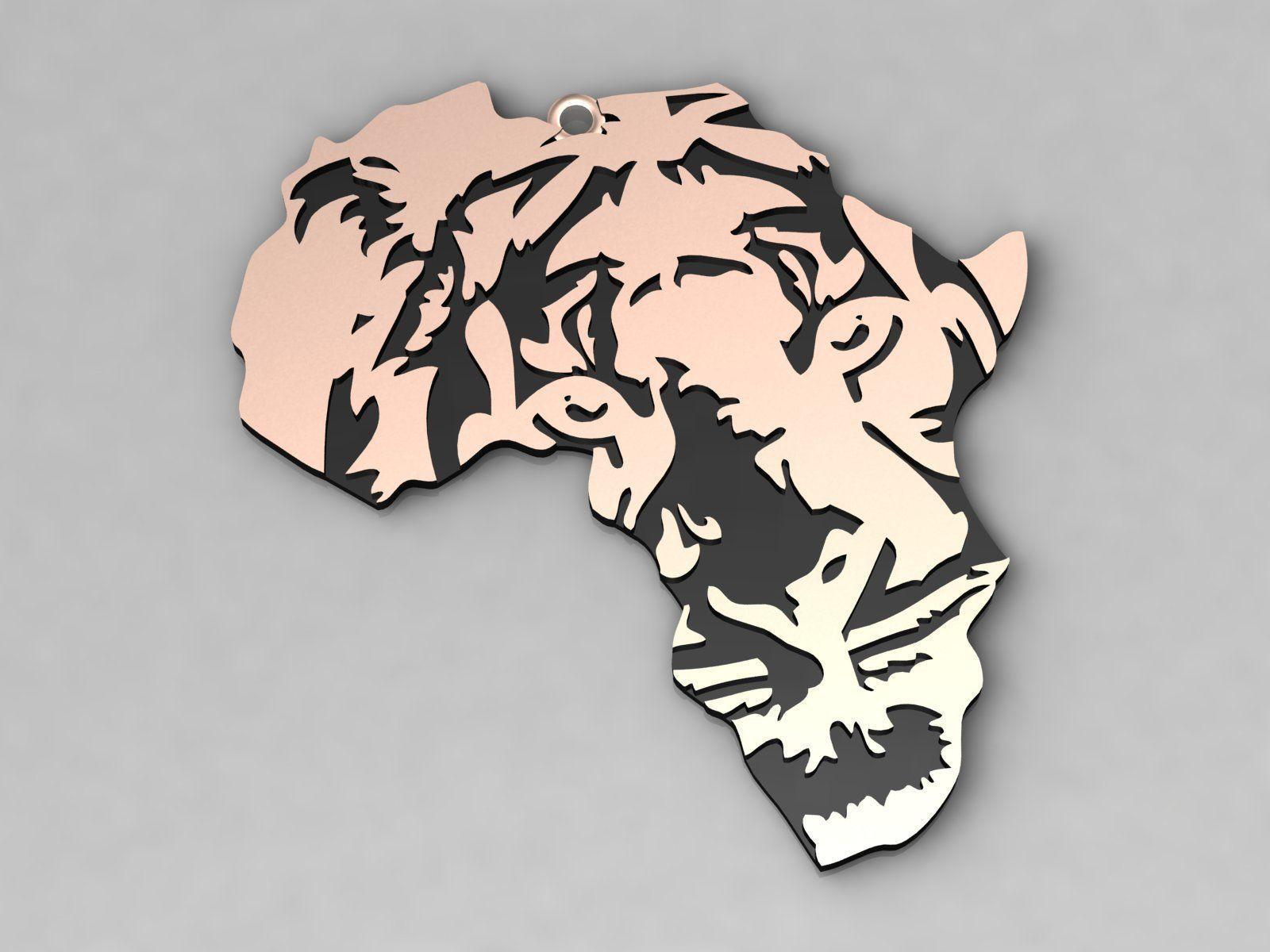 Africa Lion Charm Pendant