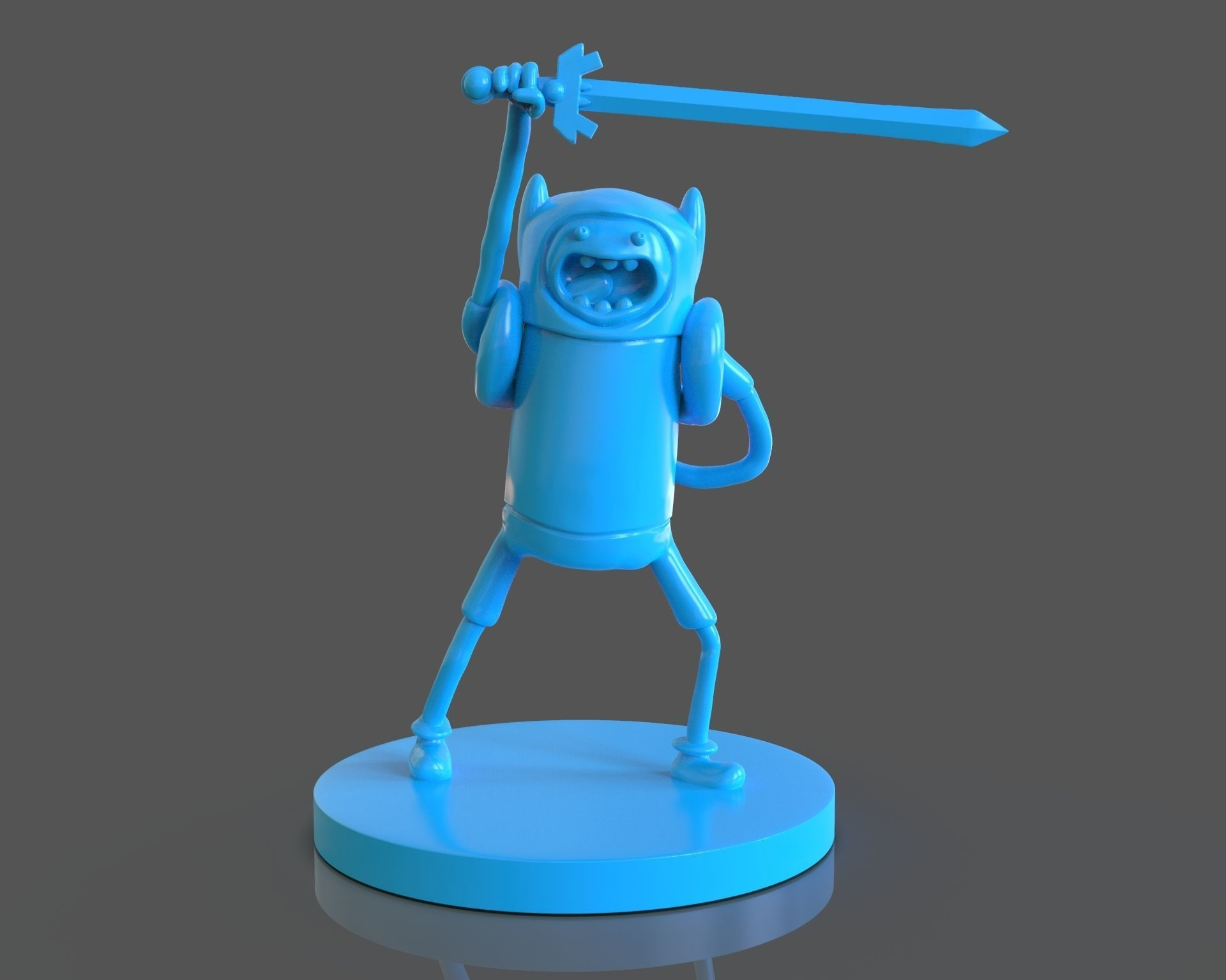 Finn The Human Sculpture and ZBrush Timelapse