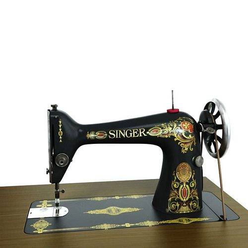40D Singer Sewing Machine CGTrader Gorgeous Stinger Sewing Machine