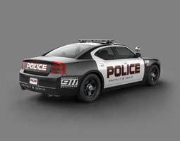 Black Police Car 3D model
