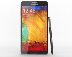 3D model Samsung Galaxy Note 3 Black