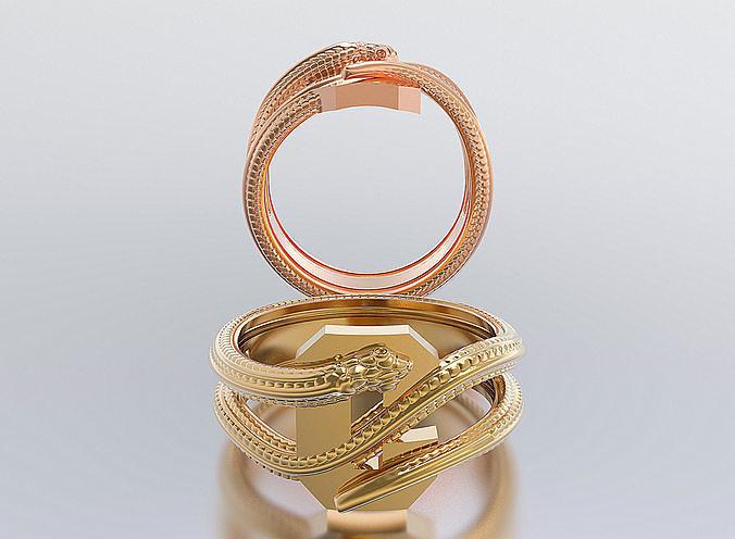 letter snake rings