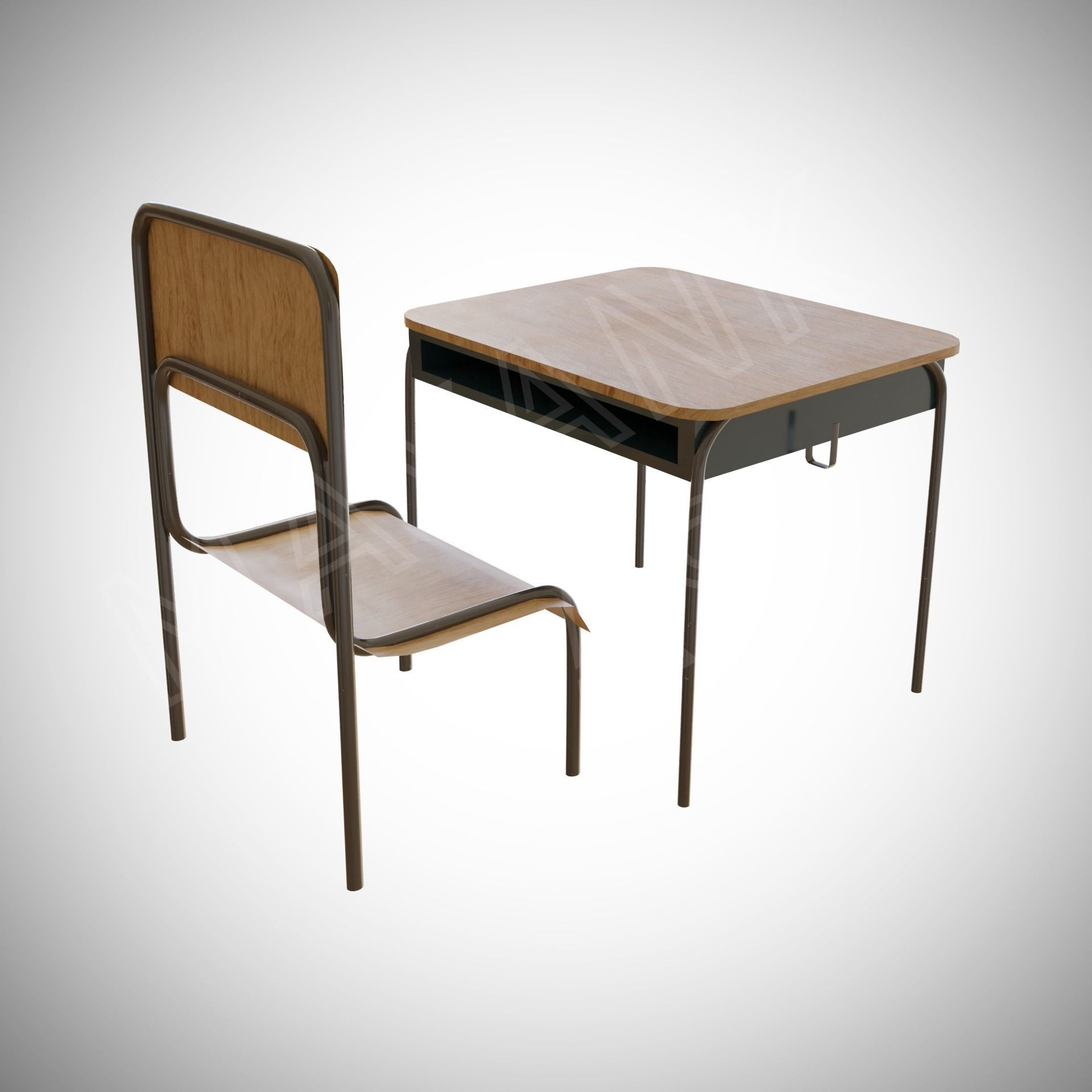 Japanese School Chair And Desk