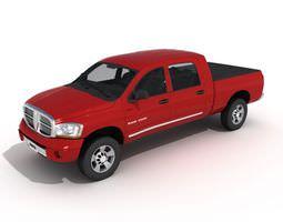 Car Dodge Ram 2500 Red 3D model