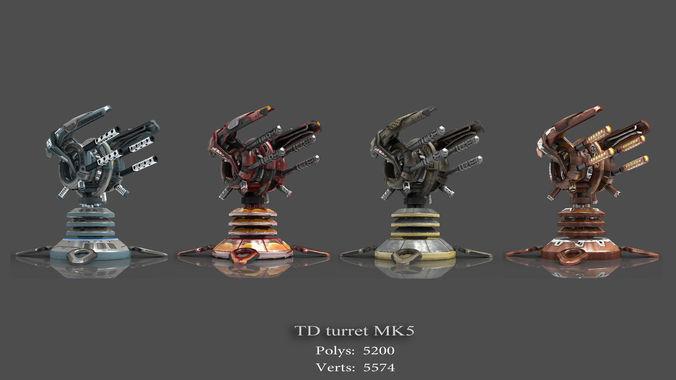 tower defense pack 3d model low-poly max obj fbx mtl tga 20