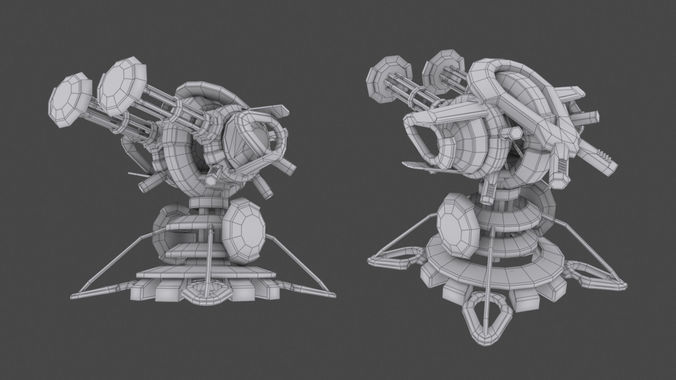 tower defense pack 3d model low-poly max obj fbx mtl tga 38