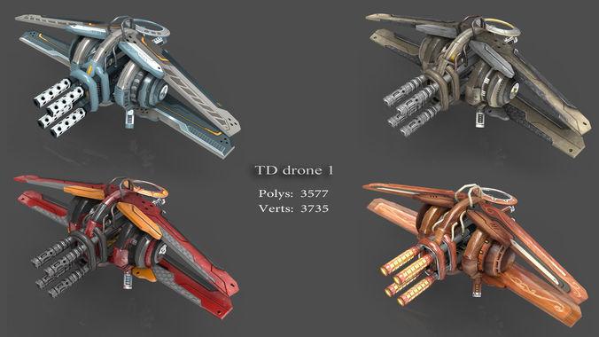 tower defense pack 3d model low-poly max obj fbx mtl tga 4