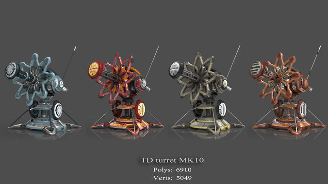 tower defense pack 3d model low-poly max obj fbx mtl tga 23