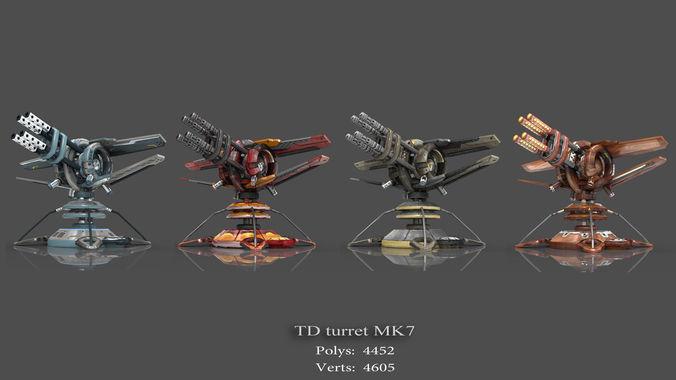 tower defense pack 3d model low-poly max obj fbx mtl tga 17