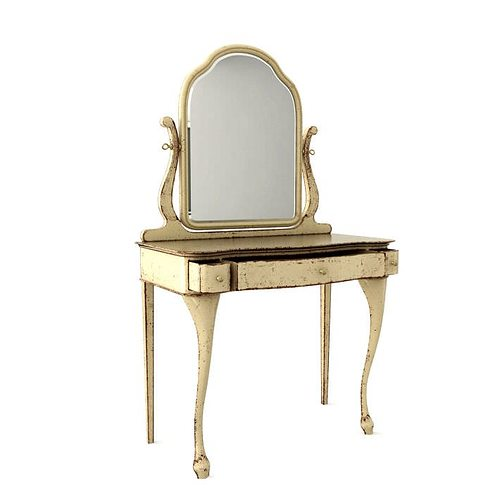 Antique Vanity Table With A Mirror 3D CGTrader