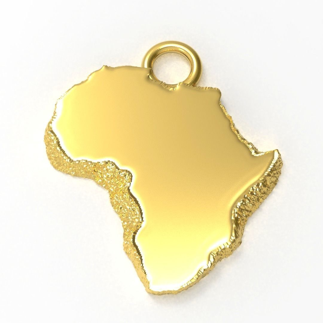 africa nugget pendant 3D printable model | CGTrader