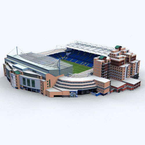 stamford bridge stadium 3d model max obj 3ds fbx c4d ma mb 1