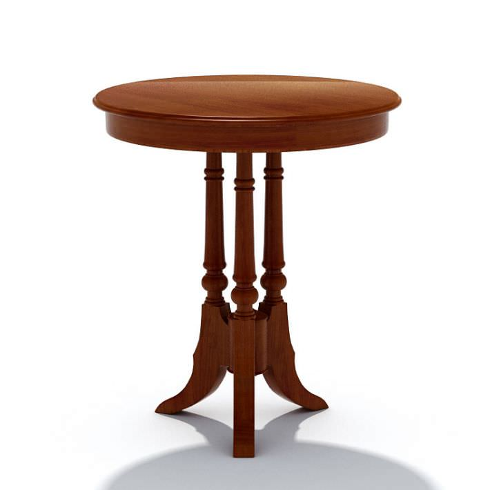 Wooden Small Round Table Model
