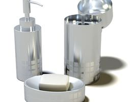 3D model Designer s Silver Bathroom Accessories