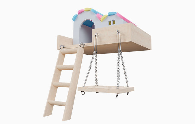 Mini House With Swing For Hamster