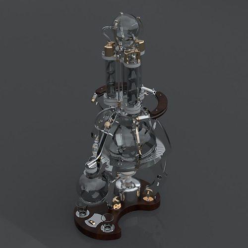 Distiller autonomous on a gas burner