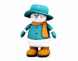3d christmas toy   snowman