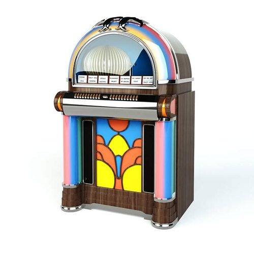 colorful jukebox 3d model obj mtl 1