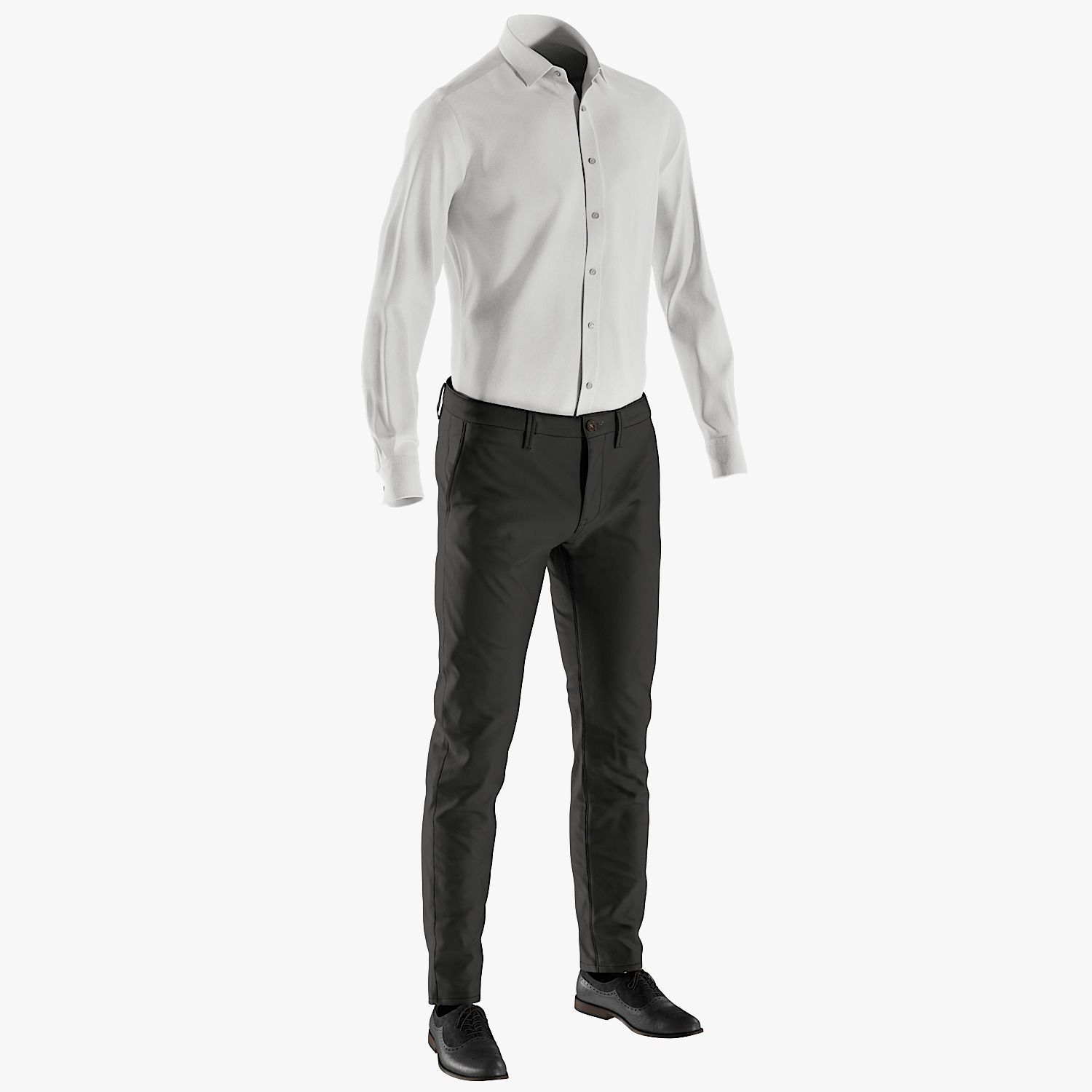 Mens Pants with Shirt Shoes 6
