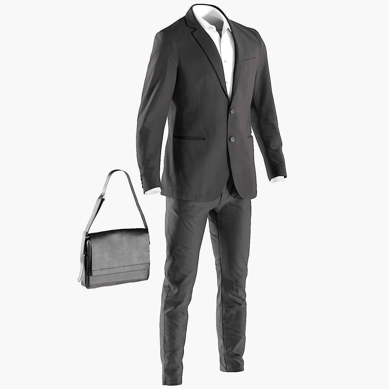 Mens Business Suit with Shirt Bag 6
